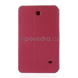 PU kožené peněženkové pouzdro pro tablet Samsung Galaxy Tab 4 8.0 - magenta - 3