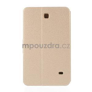 PU kožené peněženkové pouzdro pro tablet Samsung Galaxy Tab 4 8.0 - champagne - 3