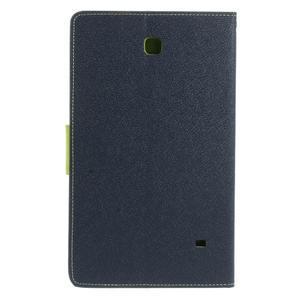 Modré peněženkové pouzdro Goospery na tablet Samsung Galaxy Tab 4 8.0 - 3