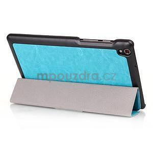 Světle modré pouzdro na tablet Lenovo S8-50 s funkcí stojánku - 3