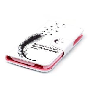 Motive pouzdro na mobil Acer Liquid Jade Z - ptačí pírka - 3