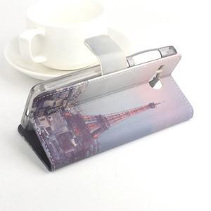 Lux peněženkové pouzdro na mobil Acer Liquid Z520 - malovaná dívka black - 3