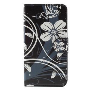 Nice koženkové pouzdro na mobil Acer Liquid Z520 - bílé květy - 3