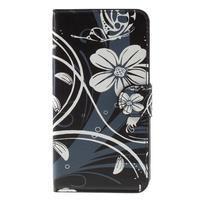 Nice koženkové pouzdro na mobil Acer Liquid Z520 - bílé květy - 3/7