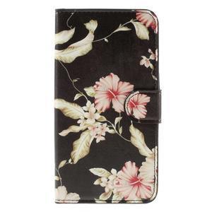 Nice koženkové pouzdro na mobil Acer Liquid Z520 - krásné květiny - 3