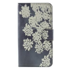 Nice koženkové pouzdro na mobil Acer Liquid Z520 - kvetoucí květy - 3