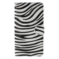 Nice koženkové pouzdro na mobil Acer Liquid Z520 - zebra - 3/7