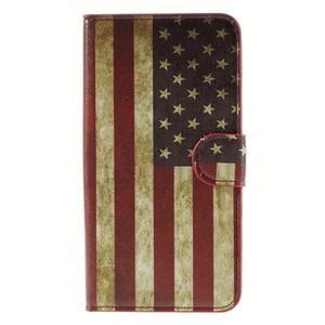 Nice koženkové pouzdro na mobil Acer Liquid Z520 - US vlajka - 3