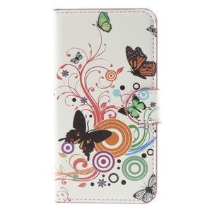 Nice koženkové pouzdro na mobil Acer Liquid Z520 - motýlci - 3
