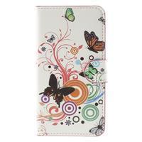 Nice koženkové pouzdro na mobil Acer Liquid Z520 - motýlci - 3/7