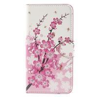 Nice koženkové pouzdro na mobil Acer Liquid Z520 - kvetoucí větvička - 3/7