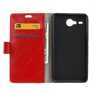 Stanley PU kožené pouzdro na Acer Liquid Z520 - červené - 3