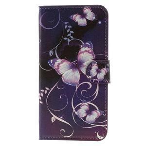 Valet peněženkové pouzdro na Acer Liquid Z530 - fialový motýl - 3