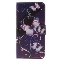 Valet peněženkové pouzdro na Acer Liquid Z530 - fialový motýl - 3/7