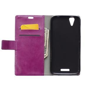 Leat PU kožené pouzdro na mobil Acer Liquid Z630 - fialové - 3