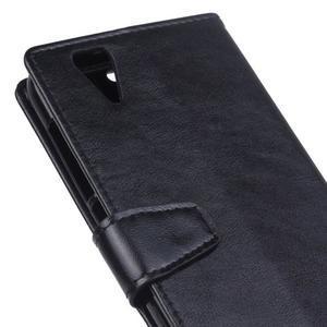 Leat PU kožené pouzdro na mobil Acer Liquid Z630 - černé - 3