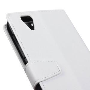 Leat PU kožené pouzdro na mobil Acer Liquid Z630 - bílé - 3
