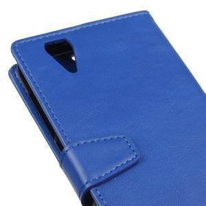 Leat PU kožené pouzdro na mobil Acer Liquid Z630 - modré - 3