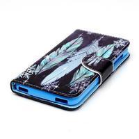 Peněženkové pouzdro na mobil Acer Liquid Z630 - peříčka - 3/6