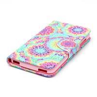 Peněženkové pouzdro na mobil Acer Liquid Z630 - barevné květy - 3/6