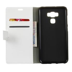 Wall knížkové pouzdro na mobil Asus Zenfone 3 Max ZC553KL - bílé - 3
