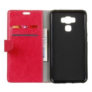Wall knížkové pouzdro na mobil Asus Zenfone 3 Max ZC553KL - rose - 3