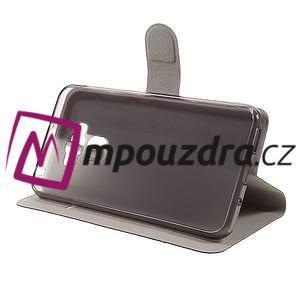 Horse PU kožené pouzdro na Asus Zenfone 3 Max ZC553KL - černé - 3