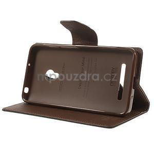 Černé/hnědé peněženkové pouzdro na Asus Zenfone 5 - 3