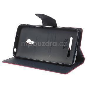Rose/tmavě modré peněženkové pouzdro na Asus Zenfone 5 - 3