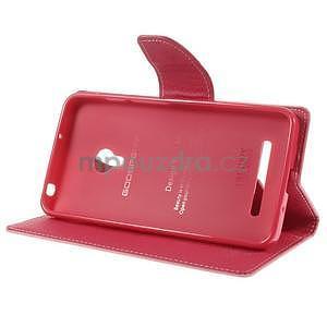 Růžové/rose peněženkové pouzdro na Asus Zenfone 5 - 3