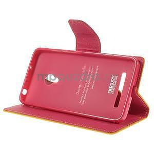 Žluté/rose peněženkové pouzdro na Asus Zenfone 5 - 3