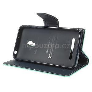 Azurové/tmavě modré peněženkové pouzdro na Asus Zenfone 5 - 3