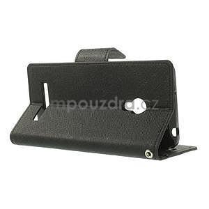 Černé PU kožené pouzdro Asus Zenfone 5 - 3