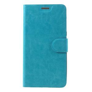 Horse peněženkové pouzdro na Asus Zenfone Max - modré - 3