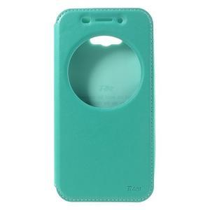 Luxusní pouzdro s okýnkem na mobil Asus Zenfone Max - cyan - 3