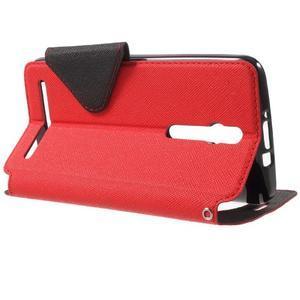 Diary peněženkové pouzdro s okýnkem na Asus Zenfone Max - červené - 3