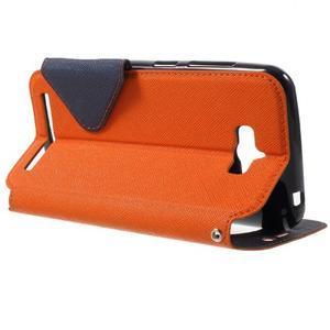 Diary peněženkové pouzdro s okýnkem na Asus Zenfone Max - oranžové - 3