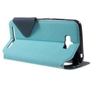 Diary peněženkové pouzdro s okýnkem na Asus Zenfone Max - světlemodré - 3