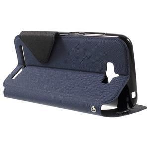 Diary peněženkové pouzdro s okýnkem na Asus Zenfone Max - tmavěmodré - 3