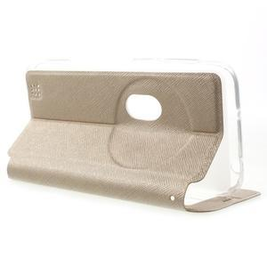 Peněženkové pouzdro s okýnkem na Asus Zenfone Zoom - zlaté - 3
