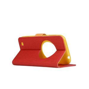 PU kožené pouzdro na Asus Zenfone Zoom - červené - 3