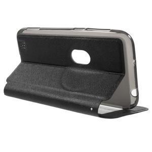 Peněženkové pouzdro s okýnkem na Asus Zenfone Zoom - černé - 3