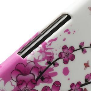 Plastový kryt na HTC One M7 - kvetoucí větvička - 3