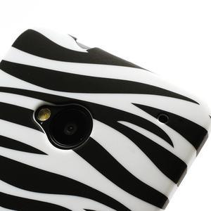 Plastový kryt na HTC One M7 - zebra - 3