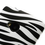 Plastový kryt na HTC One M7 - zebra - 3/4