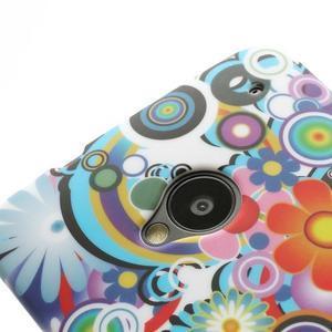 Plastový kryt na HTC One M7 - květy - 3