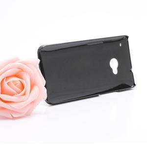 Broušený hliníkový plastový kryt na HTC One M7 - černý - 3
