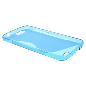 Gelový kryt S-line Huawei Ascend G7 - modrý - 3