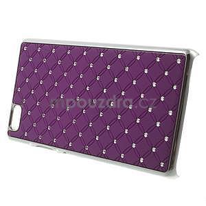 Drahokamový plastový obal na Huawei Ascend P8 Lite - fialový - 3