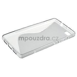 Šedý S-line gelový obal na Huawei Ascend P8 Lite - 3